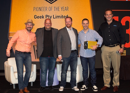 Datto  2016 awards (l-r) Jon Paior, Rob Rae, Austin McChord, Giovanni Tirimacco and James Bergl W.JPG