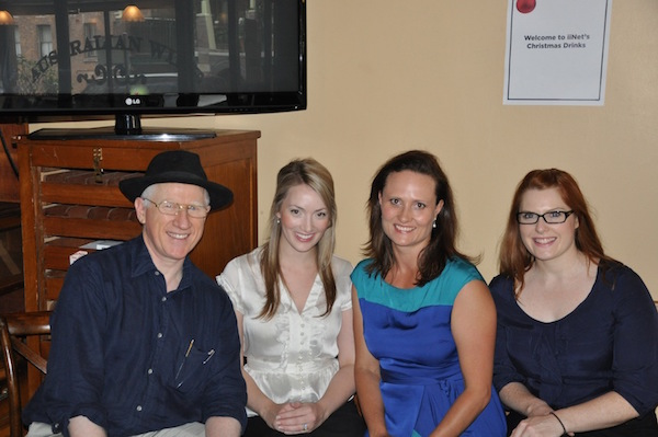 Beauties and the beast - John with Suzi, Eve and Jane, Christmas 2012