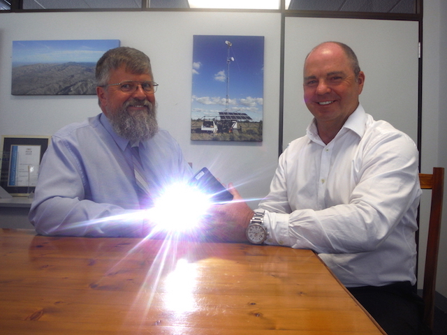 MIMP founder Doug Mackie (left) with CEO Allan Aitchison