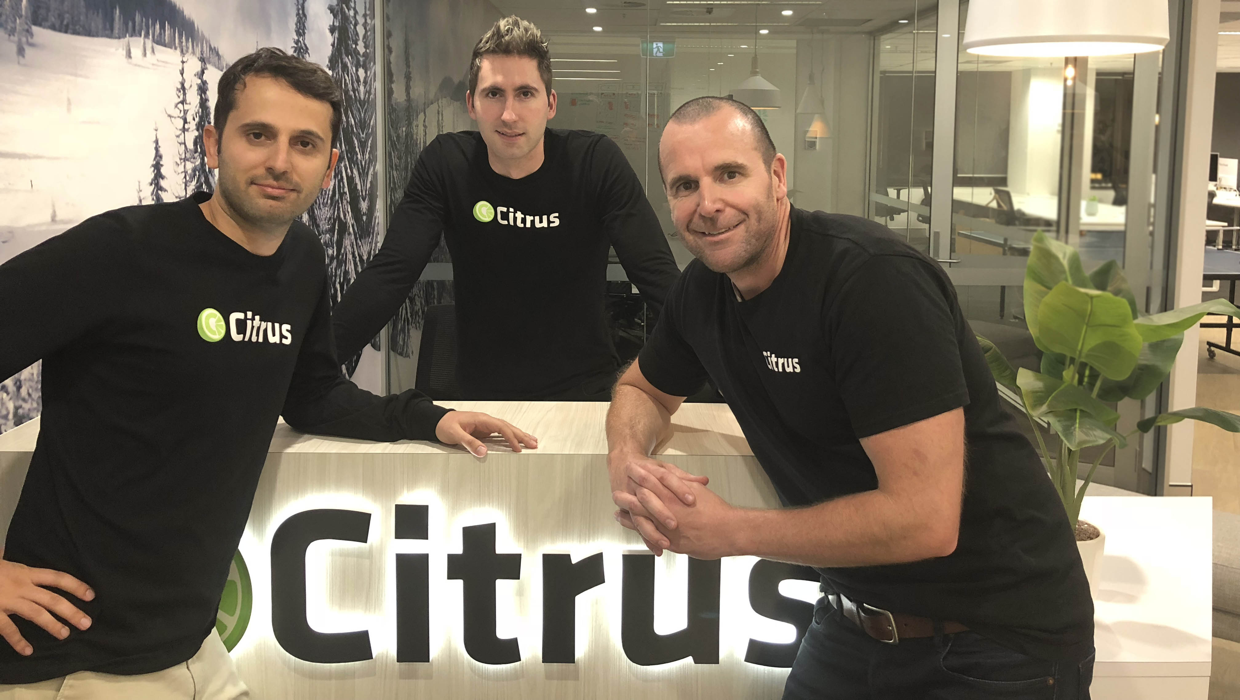 Citrus co founders L R Mohammad Alinia Brad Moran and Nick Paech W