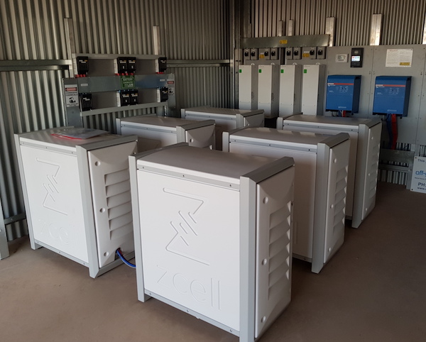 Redflow's largest residential install - six ZCells in Queensland