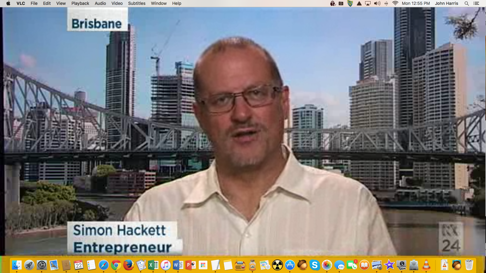 Simon Hackett on ABC News 24 | Impress Media