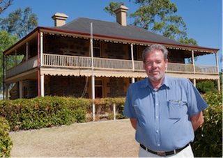 CAPTION: Heritage being restored… Nuriootpa Futures Association chairman Chris Linden and Coulthard House (Photo courtesy 'The Leader' Barossa Valley)