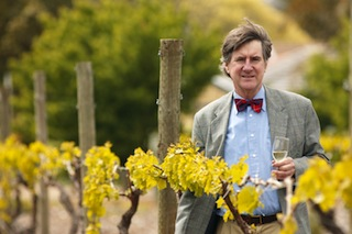 Dr. Richard Hamilton in his Marion vineyards