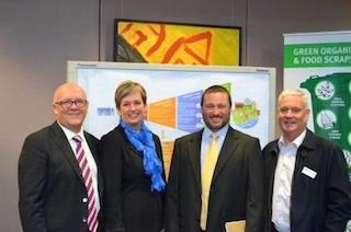 The Marion Team: pictured L-R: Mark Searle , Marion CEO; Felicity Ann-Lewis, Marion Mayor; Cameron Little, KAB Judge; John Phillips, KESAB Executive Director